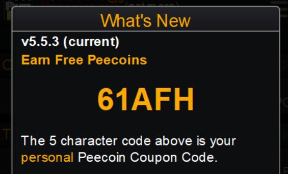 peecoin-coupon-code